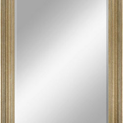 Paragon Decor - Beveled Mirror, Heavy-Ridged Antiqued Gold, 24x36 - Mirror, Mirror, on the wall, who's the most beautiful mirror of them all? Reflect your impeccable taste with this traditional-style mirror, which features a gorgeous heavy-ridged antiqued gold frame and high-quality interior beveled mirror. This piece measures 28 inches wide, 2 inches deep, and 40 inches high.