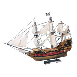 """Handcrafted Model Ships - Calico Jack's The William 36"""" - White Sails - Sold fully assembled."""