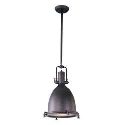 Maxim Lighting - Maxim Lighting 25104FTBZ Hi-Bay Bronze Pendant - 1 Bulb, Bulb Type: 100 Watt Incandescent