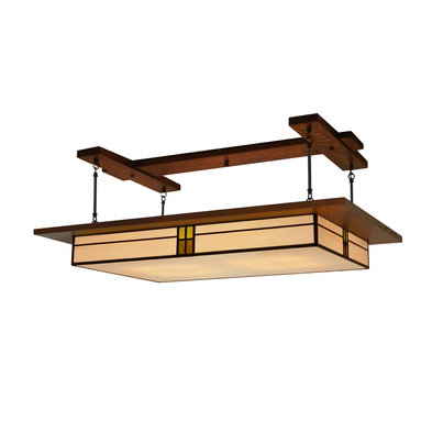 Mission Studio - Dining Room Lighting, Prairie Style Light Fixture #907 - Handcrafted in the USA is the Prairie Style Light Fixture #907 by Mission Studio.  Great for dining rooms, kitchens and living rooms.