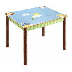 Teamson Design Sunny Safari Activity Table - Let your kids play and create with the Teamson Design Sunny Safari Activity Table. This table is just the right size for little ones and features all wood construction. Its hand-painted finish offers a colorful safari theme. Its spacious top offers plenty of room for games, snacks, art, and more.About Teamson DesignBased in Edgewood, N.Y., Teamson Design Corporation is a wholesale gift and furniture company that specializes in handmade and hand-painted kid-themed furniture collections and occasional home accents. In business since 1997, Teamson continues to inspire homes with creative and colorful furniture.
