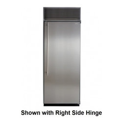 """Marvel - M30ARWSL 30"""" 19.9 Cu. ft. Built-in All Refrigerator with White Interior  Full Ex - These beautiful columns have the largest interior capacity on the market Finished with either stainless steel or paneloverlay door this all-refrigerator column offers you interior choices of arctic white aluminum or gleaming stainless steel The all-r..."""