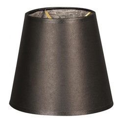 """Royal Designs, Inc"" - 5"" Parchment Empire Black Chandelier Lampshade - ""This 5"" Parchment Empire Black Chandelier Lampshade - 3 x 5 x 4.5 is a part of Royal Designs, Inc. Timeless Chandelier Shade Collection and is perfect for anyone who is looking for a simple yet stunning lampshade. Royal Designs has been in the lampshade business since 1993 with their multiple shade lines that exemplify handcrafted quality and value."