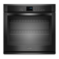 "Whirlpool - WOS51EC7AB Gold Series 27"" Single Electric Wall Oven With 4.3 Cu. Ft. Self-Clean - The Whirlpool WOS51EC7AX features an amazing 43 cu ft capacity This Single Wall Oven with SteamClean Option will always keep it self clean and ready to use This over will satisfy your every need and it will also make your kitchen look stylish with it..."
