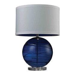 Dimond Lighting - Dimond Lighting HGTV242 HGTV Home Sapphire Glass Table Lamp - Dimond Lighting HGTV242 HGTV Home Sapphire Glass Table Lamp
