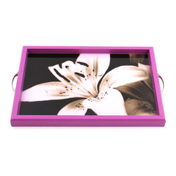 My Méz - Radiant Orchid Lily Tray/Wall Art - It's a tray; It's wall art. It's BOTH, and It's Made In the USA!