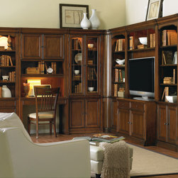 Hooker Furniture - Hooker Furniture Cherry Creek Wall Desk Hutch 258-70-437 - The Cherry Creek modular wall system allows you to design the function you need at a price much more affordable than custom built systems.