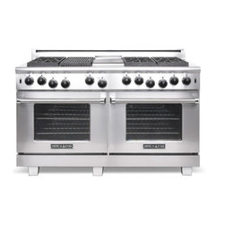 """American Range 60"""" Heritage Classic Gas Range, Stainless Steel 