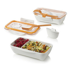 Bento Box - Another winning design from Black + Blum, a bento-style lunch box that has plenty of space for pasta, rice, salads (and the clip to attach the fork is great). Fits perfectly in an insulated lunch bag or backpack.