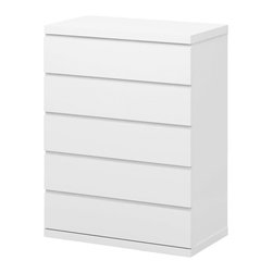 White Line Imports - Anna High Gloss White 5-Drawer Chest - This versatile chest of drawers will refresh and brighten up your even darkest bedroom. The shining white finished chest features sleek design and 5 spacious storage drawers. Feel the comfort and luxury of the Anna High Gloss White 5 Drawer Chest placing this exquisite and useful piece in your bedroom to astonish all your guests.