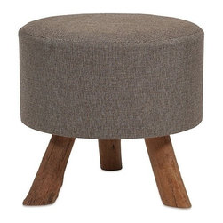 """IMAX - Williamson Ottoman - Large - Our Williamson ottoman features a woven jute covering and sturdy tanoak legs. Both handsome and versatile, use as a footrest, tray surface or for extra seating.  Item Dimensions: (19""""h x 20.5""""w x 20.5"""")"""