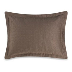 Peacock Alley - Peacock Alley Emeline Oblong Toss Pillow - The textured mocha matelasse fabric of this Emeline boudoir toss pillow coordinates back to the Emeline shams and coverlet, and contrasts nicely with the pattern of the Braga bedding.