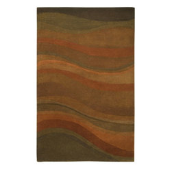 Rizzy Rugs - Contemporary Colours 8'x10' Rectangle Rust Area Rug - The Colours area rug Collection offers an affordable assortment of Contemporary stylings. Colours features a blend of natural Rust color. Hand Tufted of New Zealand Wool Blend the Colours Collection is an intriguing compliment to any decor.
