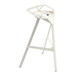 #N/A - The B-52 Stool - The B-52 Stool. The B-52 Stool is made from an aluminum frame, this bar stool can be stacked up to four high for convenient storage.  The unique design uses only three legs.