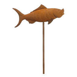 Silk Plants Direct - Silk Plants Direct Metal Carp Stake (Pack of 4) - Silk Plants Direct specializes in manufacturing, design and supply of the most life-like, premium quality artificial plants, trees, flowers, arrangements, topiaries and containers for home, office and commercial use. Our Metal Carp Stake includes the following: