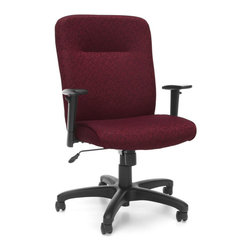 OFM - OFM Exec Conference Chair with Adjustable Arms in Burgundy - OFM - Office Chairs - 606303 - Choose a classic chair with extra style with OFM's Executive/Conference Chair Model 606. Features a flexible transitional design and your choice of fashionable stain-resistant fabric upholstery that will enhance any office dcor. Finding the right fit is