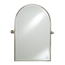 Afina - Afina Radiance Arch Top Gear Tilt Mirror - 20 x 30 in. - RM-830-CR - Shop for Bathroom Mirrors from Hayneedle.com! The Afina Radiance Arch Top Gear Tilt Mirror is a classic mirror with excellent function. Featuring a gear-style tilt mechanism the mirror tilts to match your preferences. This oval mirror installs easily and is available in your choice of finish. About AfinaAfina Corporation is a manufacturer and importer of fine bath cabinetry lighting fixtures and decorative wall mirrors. Afina products are available in an extensive palette of colors and decorative styles to reflect the trends of a new millennium. Based in Paterson N.J. Afina is committed to providing fine products that will be an integral part of your unique bath environment.