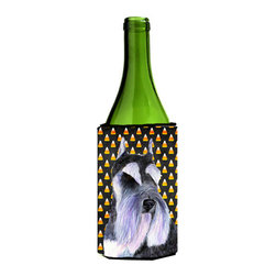 Caroline's Treasures - Schnauzer Candy Corn Halloween Portrait Wine Bottle Koozie Hugger SS4270LITERK - Schnauzer Candy Corn Halloween Portrait Wine Bottle Koozie Hugger SS4270LITERK Fits 750 ml. wine or other beverage bottles. Fits 24 oz. cans or pint bottles. Great collapsible koozie for large cans of beer, Energy Drinks or large Iced Tea beverages. Great to keep track of your beverage and add a bit of flair to a gathering. Wash the hugger in your washing machine. Design will not come off.
