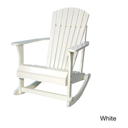 None - Adirondack Acacia Wood Rocker Chair - Ready to assemble,this Adirondack rocker is the ideal addition to your outdoor decor. Available in several lovely finishes,this rocking chair is built with solid acacia wood for durability.
