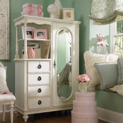 Emma's Treasures Mirror Door Chest - This chest is just simply gorgeous. I love everything about it: the details, the shade of white, the mirror.