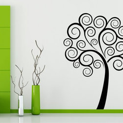 StickONmania - Tree Spirals Sticker - A cool vinyl decal wall art decoration for your home  Decorate your home with original vinyl decals made to order in our shop located in the USA. We only use the best equipment and materials to guarantee the everlasting quality of each vinyl sticker. Our original wall art design stickers are easy to apply on most flat surfaces, including slightly textured walls, windows, mirrors, or any smooth surface. Some wall decals may come in multiple pieces due to the size of the design, different sizes of most of our vinyl stickers are available, please message us for a quote. Interior wall decor stickers come with a MATTE finish that is easier to remove from painted surfaces but Exterior stickers for cars,  bathrooms and refrigerators come with a stickier GLOSSY finish that can also be used for exterior purposes. We DO NOT recommend using glossy finish stickers on walls. All of our Vinyl wall decals are removable but not re-positionable, simply peel and stick, no glue or chemicals needed. Our decals always come with instructions and if you order from Houzz we will always add a small thank you gift.