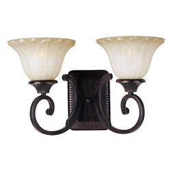 Joshua Marshal - Two Light Oil Rubbed Bronze Wilshire Glass Wall Light - Two Light Oil Rubbed Bronze Wilshire Glass Wall Light