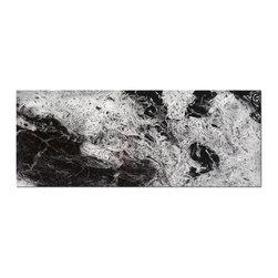 "Metal Art Studio - Storm Black & White Modern Metal Abstract Wall Art - Size: 48""X19"""