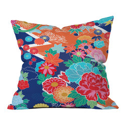Juliana Curi Osaka Orange Outdoor Throw Pillow - Do you hear that noise? it's your outdoor area begging for a facelift and what better way to turn up the chic than with our outdoor throw pillow collection? Made from water and mildew proof woven polyester, our indoor/outdoor throw pillow is the perfect way to add some vibrance and character to your boring outdoor furniture while giving the rain a run for its money.