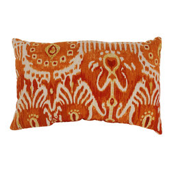 Pillow Perfect - Cerva Pumpkin Rectangular Throw Pillow - Throw a splash of color into your den,living room,or bedroom with this bright orange,decorative throw pillow. The perfect contrast to brown,blue,or white palettes,this rectangular polyester pillow is as comfortable as it is attractive.
