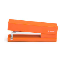 Poppin - Stapler, Orange - Make your work day a little more fun with a playful desk accessory like one of these bright, pop-colored staplers (OK, you can still have black if you insist.) You'll smile every time that steel anvil ka-chunks through 20 sheets of paper. Just don't let your office mates steal it.