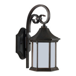 Seagull - Seagull Undefined Outdoor Lighting Fixture in Unknown - Shown in picture: CLOSEOUT SPECIAL - One Light Fluorescent Outdoor Lantern in Textured Rust Patina Finish. Dimensions: W:6 9/32'' H:13 9/16'' E:8 17/32'' �. Backplate: DP:13/16'' W:4 23/32'' H:7'' OB UP:8'' OB DOWN:5 9/16'' Irregular. Wire/Cord Length: 6.5