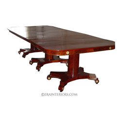 ERA Interiors - Regency Triple Pedestal Dining Table - ERA Interiors