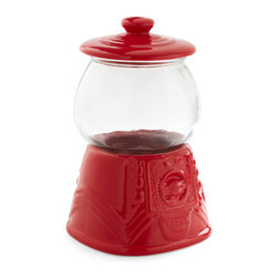 The Treat Life Container - How cute is this retro gumball machine–inspired jar? I would fill it up with treats or even use it to display little tchotchkes.