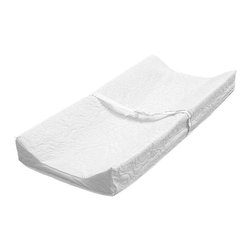 LA Baby - LA Baby Contour Changing Pad - 3401-30Q - Shop for Baby Diaper Changing Pads from Hayneedle.com! The LA Baby Contour Changing Pad transforms virtually any dresser or changing table into a comfortable and secure spot for your baby while you perform diaper duty. This classic pad features high contoured sides that prevent your baby from rolling around while you complete this frequent task. A quick release safety belt and secure snap-on mounting system also help ease your mind. The waterproof non-toxic vinyl cover wipes clean and is easy to disinfect.About LA BabyL.A. Baby is an award-winning division of Amwan a manufacturer and distributor of fine quality juvenile furniture. With products designed for residential and commercial use L.A. Baby items can be found in homes day cares and hotels. Based in City of Industry California L.A. Baby offers a wide range of baby items including cribs strollers safety gates changing pads and high chairs.