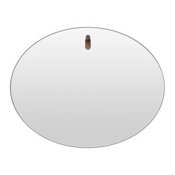 Blu Dot - Blu Dot Hang 1 Oval Mirror - Squares are so ... well ... square. This oval mirror has a sleek cool shape and easy-hang walnut peg that's perfect for your favorite setting. Add it and you'll look cooler than ever.