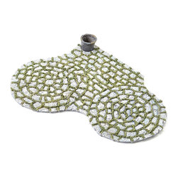 Wholesale Fairy Gardens - Mossy Patio Pad - Invite fairy visitors with this mossy patio pad that features dainty details and a rustic design.   11.5'' W x 8'' H Resin Imported