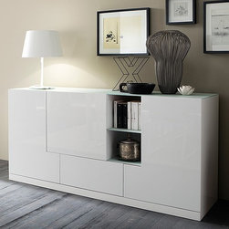 Rossetto Furniture - Sevens Buffet in White - R294313623117 - Seville Collection Buffet