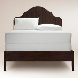 Julian Bed - The shape of and rustic wood material on this bed frame are fantastic. The high arches are my favorite.