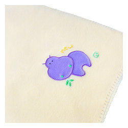 "Blancho Bedding - [Purple Hippo - Yellow] Applique Coral Fleece Baby Throw Blanket (29.5""-39.4"") - The Embroidered Applique Coral Fleece Baby Kids Throw Blanket measures 29.5 by 39.4 inches. Whether you are adding the final touch to your bedroom or rec-room, these patterns will add a little whimsy to your decor. Machine wash and tumble dry for easy care. Will look and feel as good as new after multiple washings! This blanket adds a decorative touch to your decor at an exceptional value. Comfort, warmth and stylish designs. This throw blanket will make a fun additional to any room and are beautiful draped over a sofa, chair, bottom of your bed and handy to grab and snuggle up in when there is a chill in the air. They are the perfect gift for any occasion! Available in a choice of whimsical kid-friendly prints to spark the imagination, the blanket is durable enough to look great on the go."