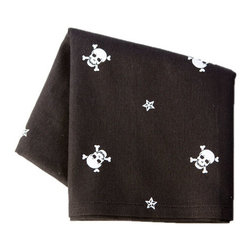 Sin in Linen - Skull and Crossbones Tea Towel - Show your tough side and your sweet side with these skull and crossbones kitchen linens.