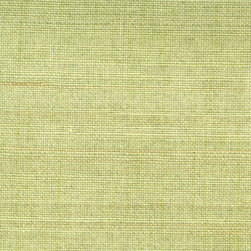 Miyo Green Grasscloth Wallpaper - A beautiful grassy green hue with a soft, natural weave brings interest to walls in an eco-chic material.