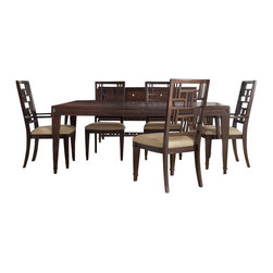 Hooker Furniture - Hooker Furniture Ludlow 5 Piece Rectangle Dining Table Set in Walnut - Hooker Furniture - Dining Sets - 1030762005PCDiningPKG