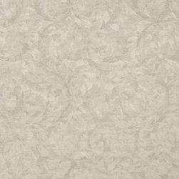 Beige, Pastel Floral Leaves Jacquard Woven Upholstery Fabric By The Yard - Botanical upholstery fabrics with the look of this one, add a unique appearance to any furniture. This material's colors look pastel, and blend perfectly together.