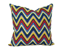 Land of Pillows - Waverly Sand Art Majestic Zig Zag Chevron Stripe Decorative Throw Pillow, 20x20 - Fabric Designer - Waverly