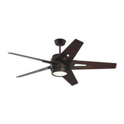 Emerson - Emerson Luxe Eco Ceiling Fan in Oil Rubbed Bronze - Emerson Luxe Eco Model CF550DMORB in Oil Rubbed Bronze with Dark Mahogany Finished Blades.