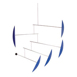 Flensted Mobiles - Tango Mobile in Blue - Shall we dance? This mobile's rhythmic motion mimics the fluid movements of the tango and will add a bright pop of color wherever it hangs.