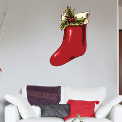 Christmas Stocking Vinyl Wall Decal ChristmasStockingUScolor012; 72 in. - Vinyl Wall Decals are an awesome way to bring a room to life!