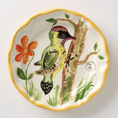 eclectic dinnerware French Bird Dinner Plate