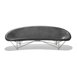 Galanter & Jones - Helios Heated Lounge Outdoor Seating, Charcoal - The Helios Heated Lounge is a piece of radiantly heated outdoor furniture, the first of its kind. Smooth like a river rock, the Helios warms your entire body with its efficient and comfortable design.