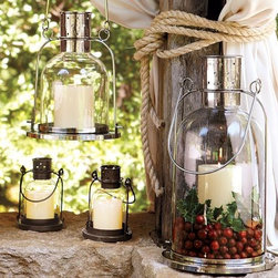 Arches Lantern - Lanterns are one of the most versatile decor pieces you can buy. They look good both indoors and out, and they can be used all year long. I like that these lanterns from Pottery Barn have room for a few decorations to fit inside as well.